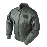 casacos de exército para homens venda por atacado-2018 dropship exército tático militar CWU / 45 P Bomber Jacket Men Vôo de beisebol top gun preto b3 airforce piloto voo harrington Y1892505