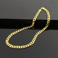 Wholesale necklace chain sizes resale online - New MM Figaro Chains Gold Sterling Silver Necklace Women Casual Jewelry DIY Chains All Size Length