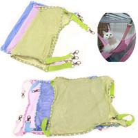 malla de hamaca al por mayor-Soft Cat malla transpirable hamaca perreras portátil primavera verano rosa azul cama para perros con gancho suministros para mascotas 11xa bb