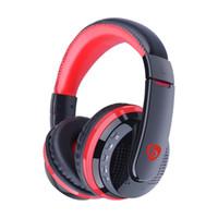 ingrosso trasduttore auricolare dell'orecchio di 3.5mm-Cuffie Bluetooth MX666 Stereo Audio Over Ear Cuffie Wireless HiFi Bass DJ Rock Noise Cancelling Cuffie con microfono FM TF Card