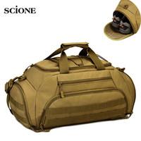 Wholesale waterproof laptop rucksack backpack for sale - 35L Gym Bag Backpack Rucksack Tactical Molle Bags Waterproof Shoes Sports Handbag Camping Laptop Canera X335WA