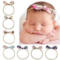 Wholesale silver toddler headband online - 16pcs Hair Bow Flower Headband Silver Ribbon Hair Band Handmade DIY Hair Accessories For Children Newborn Toddler KT081