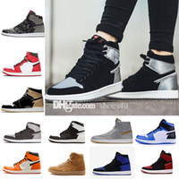 Wholesale Silk Stretch Satin - High Quality 1 OG Bred Royal Blue Black All Star Chameleon Basketball Shoes Men 1s Top 3 Fragment x Sneakers US 8.0-13