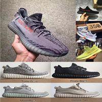 Wholesale womens body - 2018 Mens Shoes Beluga 2.0 Blue Tint Sply 350 V2 V1 Sneakers Moonrock Black Womens Sport Casual 350 v2 Running Shoes