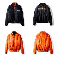 Wholesale Xs Women Black Winter Jacket - Fashion MA1 Winter Vetements Oversize Warm windproof Men Hoodies Women Pilot Two sides wear Jacket Thick zipper Sports Coat