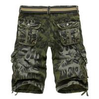 bermuda jeans masculina achat en gros de-Nouveau Design Hommes D'été Régulier Camouflage Militaire Cargo Shorts Bermuda Masculina Jeans Mode Homme Casual Baggy Denim Shorts