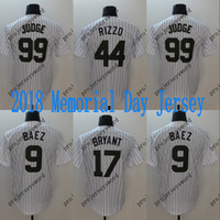 Wholesale order baseball jersey cheap - Mens 2018 Memorial Day Jersey Chicago 9 Javier Baez 17 KrisBryant 44 Anthony Rizzo New York 99 Aaron Judge Baseball Jerseys Cheap Mix Order
