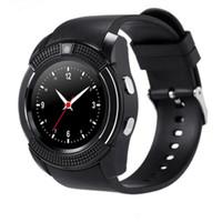 Wholesale Wrist Watch Phones For Sale - Hot Sale Bluetooth Smart Watch V8 SIM Card TF Card HD Circular Screen Smart Wrist Watch Phone smart watches wholesale 1pcs lot