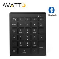 Wholesale mini keys keyboard - AVATTO 28 Keys Bluetooth Wireless Numeric Keypad Mini Numpad with More Function Keys Digital Keyboard For PC Accounting tasks