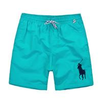 ingrosso grande nuotata-2018 Estate veloce veloce grande cavallo nuovo marchio di qualità estate pantaloncini da surf uomo spiaggia calda spiaggia pantaloncini da spiaggia polo uomini pantaloncini da bagno nuoto pantaloni