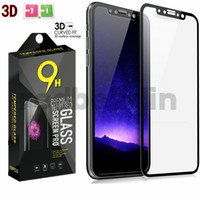 Wholesale tempered glasses retail box for sale – best Tempered Glass D Curved Soft Edge Carbon Fiber Screen Protector For iPhone XS MAX XS XR X Carbon fiber tempered glass with retail box