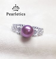 Wholesale ring double silver - cubic zirconia solid sterling silver ring setting, double ring mounting,ring blank without pearl,jewelry DIY.gift DIY