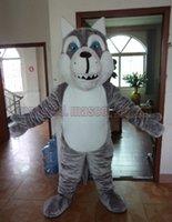 köpek kostüm çocuğu toptan satış-Kurt köpekleri maskot kostüm Ücretsiz Kargo Yetişkin Boyutu, Kurt maskot lüks peluş oyuncak karnaval parti maskot fabrika satış kutlamaktadır.