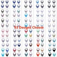 modèles de bavoir gratuit achat en gros de-Fox Bavettes Burp Chiffons 4PCS / Set Ins Cartoon Bandana infantile Tissu Saliva bavoirs pour nouveau-né Triangle Bibs 83 Designs HH7-1411
