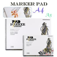 Wholesale design coloring books - Outdoor portable 32 Sheets Marker Book Student Coloring Design Notebook Set for Sketch Cute Draw book School Marker Pad Supplies