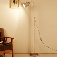 Wholesale floor paint wood - Modern iron painted wood American Style Floor Lamps Adjustable Hotel light E27 LED AC 110V 220V for study living room bed room
