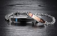 Wholesale 18k sample for sale - Group buy Free sample Brand new fashion lovers L stainless steel bracelet men s bracelets women s accessories girlfriend s gift crystal chain