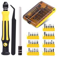 precision screwdriver set mobile phones Australia - 45 in 1 Precision Torx Screwdriver Cell Phone Repair Tool Set Tweezer Mobile Phone Tool Kit Wholesale