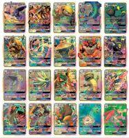 cartões de meninos venda por atacado-Novo 200 cartão de 170GX + 20energia + 10trainer coleção de cartões de cartões bonito conjunto de cartões Mega poker cards Brinquedos versão em Inglês para meninas e meninos jogos