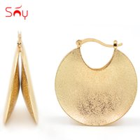 Wholesale Big Hoops For Jewelry - Wholesale-Sunny Jewelry Fashion Jewelry 2017 Big Hoop Earrings For Women Dubai High Quality Round Moon Geometric For Party Wedding Daily