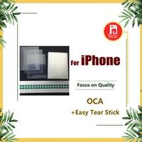 oca optik yapıştırıcı toptan satış-OCA Sticker Film iphone 4 4 s 5 5 s 5c 6 6 s 6 artı 7 ARTı 8 Optik Yapıştırıcı Tutkal Mitsubishi 250um
