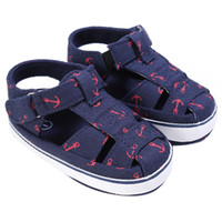 Wholesale baby boy shoes 12 months resale online - Pattern Baby Boys Summer Shoes Prewalkers Fashion Canvas Upper Soft Sole Shoes First Walkers for Month Toddle Baby