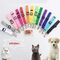 Wholesale Dog Seat Belts For Cars Adjustable Stretch Pet Seat Belt For Dog With Safe Hook Garden Outdoor Leashes SHH7