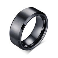 Wholesale wholesale men wedding bands - Creative Simple Smooth Pure Tungsten Titanium steel Ring stainless steel For Men Women Gifts