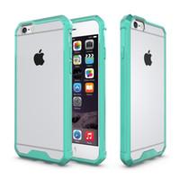 étui iphone rose clair achat en gros de-Coque antichoc transparente pour iPhone XS MAX XR X TPU PC Silicone Couverture souple pour téléphone souple iPhone x 6s 7 8 Plus Coque Noir Rose Coque