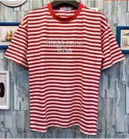Wholesale Hiphop Fashion Stripe - 2018SS 6 color A$AP Rocky Joint Embroidery OVERSIZE stripe Tee Ian Connor women men short sleeve T-shirt men tee hiphop casual size M -XXL