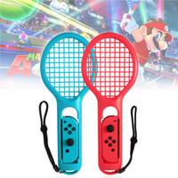 manipulado venda por atacado-1 Par Interruptor Acessórios do jogo ABS Titular Punho Raquete De Tênis para Nintendo Switch NS Ténis ACES Game Player
