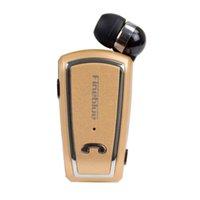 fineblue mini drahtlose bluetooth großhandel-Einziehbarer Fineblue Mini Wireless-Treiber Stereo-Bluetooth-Headset-Clip mit laufendem Kopfhörer für Smartphones in Verkaufsverpackung