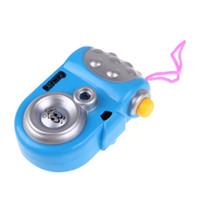 câmera digital menina venda por atacado-2017 Crianças Câmera de Projeção Educacional Brinquedos Do Bebê Brinquedo Estudo Cor Aleatória Bebê Meninos Meninas Brinquedo Câmera