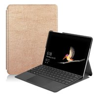 Wholesale surface tablets resale online - Slim Magnetic Stand Flip Cover Good PU Leather Case for Microsoft Surface Go inch Tablet Protective Skin Shell