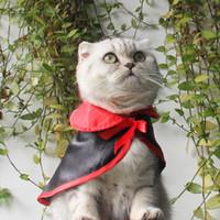 ingrosso sciarpa di nozze del cane-Raffreddare Nero Pet Cat Dog Costume di Halloween Cosplay Mantella Scialli Mantello Sciarpa calda Matrimonio Compleanno Party Regalo Forniture per animali