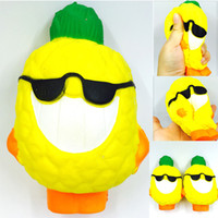 Wholesale hot toys silicone online - Pineapple Squishy Decompression Toys Fruit Shape Squishies Slow Rising Relieves Stress Toy For Adults Hot Sale sy C