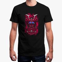 ingrosso top samurai-New Fashion T Shirt Uomo Dj Samurai Techno Tshirt Unisex Tondo Colletto Fitness Maniche corte T-Shirt Uomo Taglie forti Tops Casuals