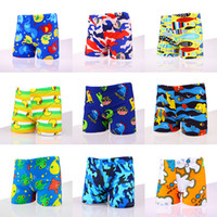 Wholesale boys kids trunk swimming - Baby boys Animal print Swim Trunks 2018 summer Children cartoon Swim Trunks 11 colors kids Board Shorts C3827