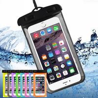 водостойкий чехол для телефона оптовых-Водоустойчивые мешки подводного Iphone доказательства воды мобильного телефона случая телефона мешки дневного края сухих мешков с талрепом для iphone XS максимального XR X 8 WCC1-2