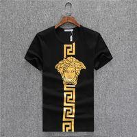 Wholesale luxury clothes for men - Mens Designer T Shirts Mens Clothing Luxury Shirt Fashion Summer Shirt Short Sleeve Crew Neck Cotton Blend Brand Shirt for Men Face Print
