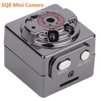 hd micro caméras vidéo achat en gros de-SQ8 Mini caméra DVR de voiture HD 1080P Caméra Vision nocturne Mini caméra de détection de mouvement Caméscope classe 10 Micro voiture Caméra