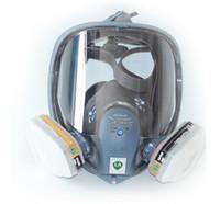 ingrosso spruzzare maschere-Vestito pittura a spruzzo per 6800 maschera antigas viso pieno facciale respiratore SJL maschera viso completo con cartuccia di vapore organico