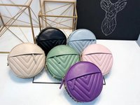 Wholesale purple patent purse - AAAAA 2018 Luxury designer famous brand New handbags circular girl shoulder bags handbag shoulder Waterproof purse wallet lady bag 180429007