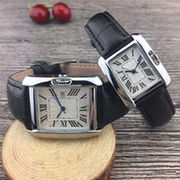 Wholesale luxury watches for couples - New Couple Luxury brand women men watches Fashion Leather strap Gold Quartz Classic Wrist watch for Mens Ladies best Valentine gift relogios