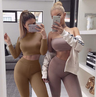 Wholesale womens two piece clothing for sale - Group buy Women Women s Two Piece Pants Long Sleeved Slim Two Pieces Autumn Winter Sexy Womens clothes