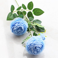 Wholesale European Style Garden - New Arrival European Style Fake Artificial Rose Peony Peonies Silk Decorative Party Flowers For Home Hotel Wedding Office Garden Decor