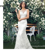 Wholesale sash brush online - Mermaid Trumpet Sweep Brush Train Lace Beach Wedding D