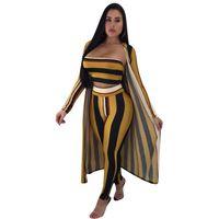 Wholesale ladies short yoga pant online - Women Casual Tracksuits Crop Tops Cape Pants Piece Set Autumn Winter Design Home Wear Ladies Female Suit Outfit