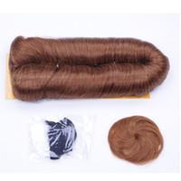 kısa insan saçı örgüleri toptan satış-Brezilyalı bakire saç kısa sapıkça kıvırcık demetleri Remy ombre saç İnsan saç demetleri Örgüleri kapatılması Remi Femi 28 Adet düz sarışın demetleri