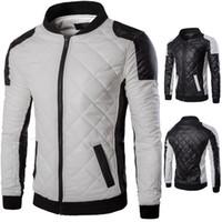 ingrosso giacca casual dei giovani-Giacca in pelle da uomo Giacca da moto Giacca da uomo Slim Fit Zipper per ragazzi US Fashion Style M-5XL